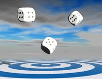 Lucky chance abstract concept with dices. Royalty Free Stock Image