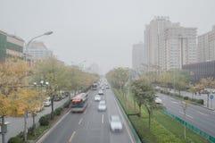 Luftverschmutzung in Peking Lizenzfreies Stockfoto