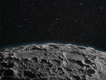 Lunar surface Royalty Free Stock Image