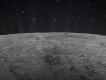 Lunar surface Stock Photo