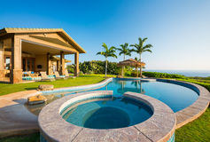 Luxury home with swimming pool Royalty Free Stock Image