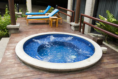 Luxury Hotel Resort and Hot Tub Water Spa Stock Image