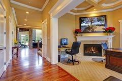 Luxury house interior. Hallway and office room Stock Image