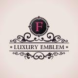 Luxury logo. Calligraphic pattern elegant decor Royalty Free Stock Images