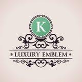 Luxury logo. Calligraphic pattern elegant decor Royalty Free Stock Photo