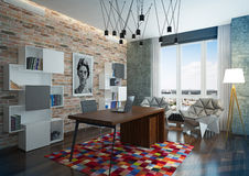 Luxury modern home office. Stock Images