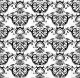 Luxury seamless black & white wallpaper Royalty Free Stock Image