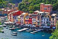 Lyxiga Portofino, Liguria Arkivfoto
