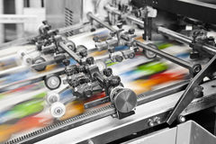 Machine d'impression Photographie stock