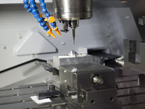 Machining precision part Royalty Free Stock Photos