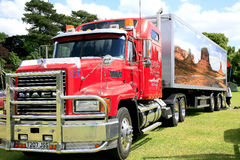 Mack haulage truck and trailer. Stock Photo