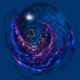 Magic glass orb Stock Images
