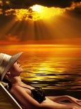 Magic sunset Stock Images
