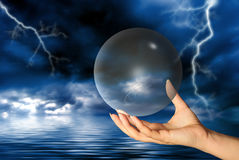 Magical sphere Stock Images