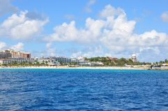 Maho Beach, StMaartin Lizenzfreie Stockbilder