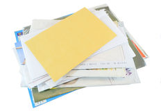 Mail correspondence Royalty Free Stock Photo
