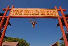 Main Grand Entrance to Wild West Town Stock Images