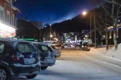 Are main street winter Royalty Free Stock Photos