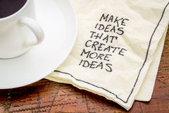 Make ideas advice on napking Royalty Free Stock Photography