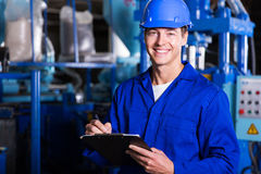 Male industrial technician Stock Images