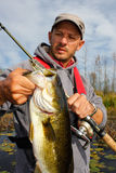 Man Bass Fishing Royalty Free Stock Photography