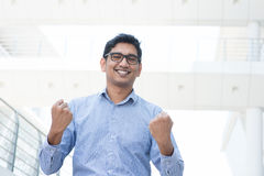 Man celebrating success Royalty Free Stock Image