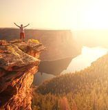 Man on the cliff Royalty Free Stock Images