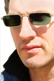 Man with dark glasses Royalty Free Stock Image
