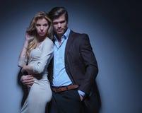 Man embracing his woman Royalty Free Stock Photo