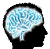 Man glowing brain concept Royalty Free Stock Photos