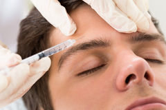 Man Having Botox Treatment Royalty Free Stock Image