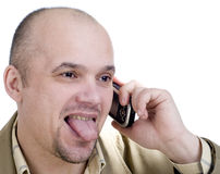 The man with phone Royalty Free Stock Images