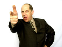 Man Pointing The Finger Stock Photo