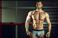 Man posing in pants Royalty Free Stock Images