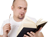 The man reads the bible Royalty Free Stock Image