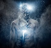 Man with spiritual body art Royalty Free Stock Images