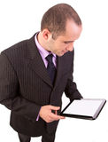 Man using a touchpad pc Stock Image