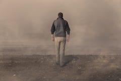 Man walking away Stock Photography