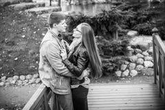 Man and woman embracing Stock Image