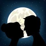 Man and woman kissing Stock Photo