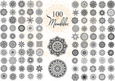 Mandala Card Set Fotografering för Bildbyråer
