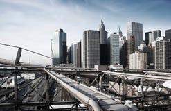 Manhattan, New York, rough industrial toning Royalty Free Stock Image