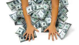 Mani dei soldi Fotografia Stock