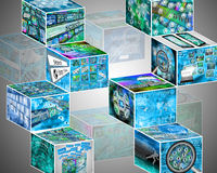 Many cubes Stock Images