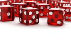Many red dice Royalty Free Stock Image
