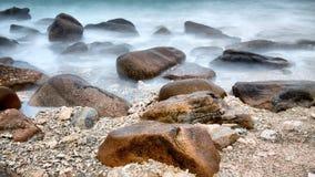 Stones in the sea Stock Image