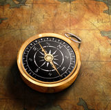 Map & Compass Stock Photo