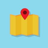 Map navigation icon flat design vector Royalty Free Stock Photography
