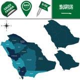 Mapa de Arábia Saudita Fotos de Stock Royalty Free