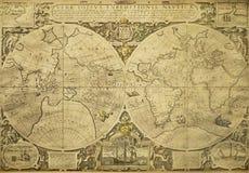 Mapa de mundo do vintage Imagem de Stock Royalty Free